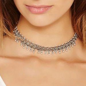 Boho silver necklace 🌸